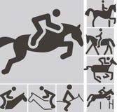 Equestrian ikony ilustracja wektor