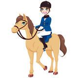 Equestrian Jockey Girl With Horse Stock Photography