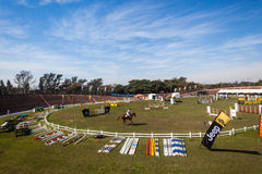 Equestrian Horse Jumping Arena  Royalty Free Stock Image