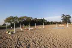 Equestrian Jumping Arena Poles Stock Photos