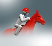 Equestrian Jumping 3D symbol, Olympic sports Royalty Free Stock Image