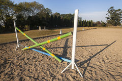 Equestrian Jumping Gate Poles Royalty Free Stock Images
