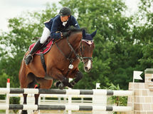 Equestrian jumping sport Royalty Free Stock Image