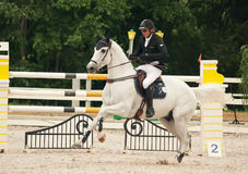 Equestrian jumping sport Royalty Free Stock Photo