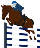 Equestrian Jumping Sport. Conceptual image showing sportsman prcticing Royalty Free Stock Photo