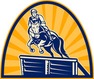 equestrian koński doskakiwania przedstawienie Zdjęcie Stock