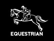 Equestrian konia doskakiwanie royalty ilustracja