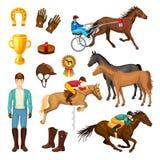 Equestrian kreskówki elementy Inkasowi ilustracji