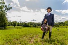 Equestrian model obraz royalty free