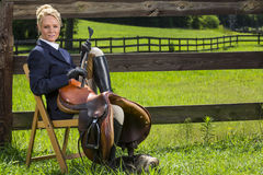 Equestrian Model Royalty Free Stock Photo