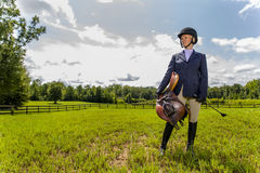 Equestrian Model Royalty Free Stock Image
