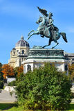 Equestrian monument of Archduke Charles, Vienna Royalty Free Stock Images