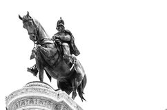 Equestrian monument Stock Images
