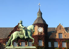 Equestrian monument from Jan Wellem. In Düsseldorf, Germany Royalty Free Stock Images