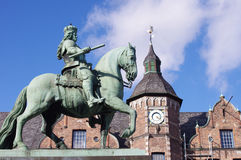 Equestrian monument from Jan Wellem. In Dusseldorf, Germany Stock Photo