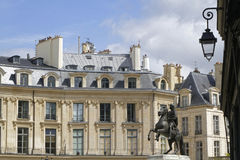 Equestrian monument of the Place des Victoires Stock Photo