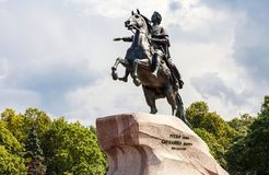 Equestrian monument of Russian emperor Peter the Great Peter Fi Stock Images