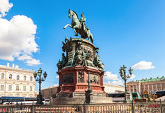 Equestrian monument to Emperor Nicholas I (1859) Stock Photo