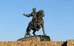 Equestrian monument to Empress Elizabeth Royalty Free Stock Image