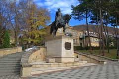 Equestrian monument to General Aleksey Petrovich Yermolov in Pyatigorsk, Russia Stock Photos
