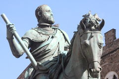 Equestrian monument to Grand Duke Cosimo I royalty free stock photo