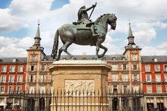 Equestrian monument to Philip III Habsburg Royalty Free Stock Images