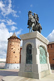 Equestrian monument to St. Prince Dmitry Donskoy Stock Image