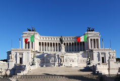 Equestrian monument to Victor Emmanuel Royalty Free Stock Photos
