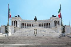 Equestrian monument to Victor Emmanuel II Stock Photography
