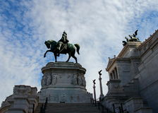 Equestrian Monument to Victor Emmanuel II. Altare della Patria, Natianal Monument to Victor Emmanuil II, Rome Italy Royalty Free Stock Photo
