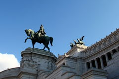 Equestrian Monument to Victor Emmanuel II Stock Image