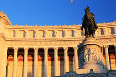 Equestrian monument to Victor Emmanuel II Stock Images