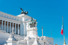 Equestrian monument to Victor Emmanuel II near Vittoriano Stock Images