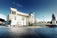 Equestrian monument to Victor Emmanuel II near Vittoriano Royalty Free Stock Images