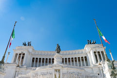 Equestrian monument to Victor Emmanuel II near Stock Photos