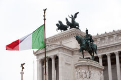 Equestrian monument to Victor Emmanuel II Rome, It Stock Photos