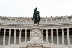 Equestrian monument to Victor Emmanuel II Rome, It Stock Images