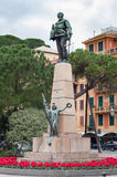 Equestrian monument to Victor Emmanuel II in Santa Margherita Ligure town, Italy Royalty Free Stock Images