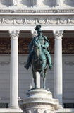 Equestrian monument to Victor Emmanuel II Stock Photos