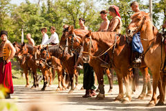 Equestrian order Cossacks Stock Photo