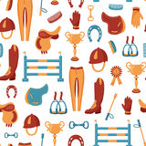 Equestrian pattern Royalty Free Stock Photo