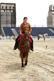 Equestrian performs on March 23, 2012 in Bahrain Royalty Free Stock Photography