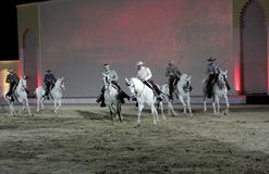 Equestrian performs on March 26, 2012 in Bahrain Stock Photography