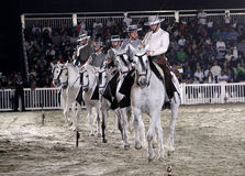 Equestrian performs on March 26, 2012 in Bahrain Royalty Free Stock Photography