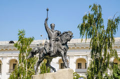 Equestrian of Petro Konashevych-Sahaidachny Stock Photos