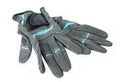 Equestrian professional grey  gloves for riding  isolated on whi Royalty Free Stock Photos