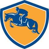 Equestrian przedstawienie Skacze Boczną osłonę Retro Obraz Stock