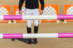 Equestrian Rider Walking Pacing Poles Royalty Free Stock Images