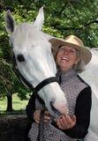equestrian senior Fotografia Stock