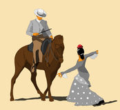 Equestrian show at  Cordoba, Spain Stock Photos